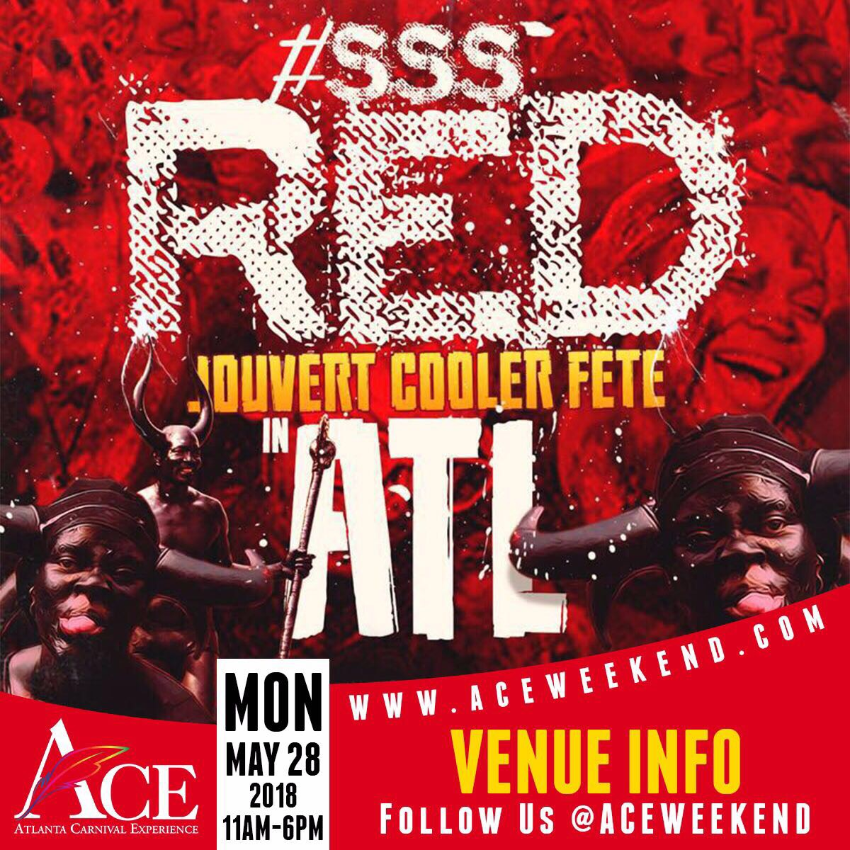 "Mon May 28th - ""#SSS Red"" (Secret Soca Society) Jouvert Paint & Poweder Party"