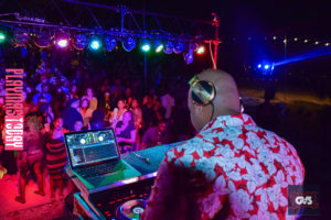 DJ Private Ryan Inside the festival with PlayMas.Today in the Bahamas