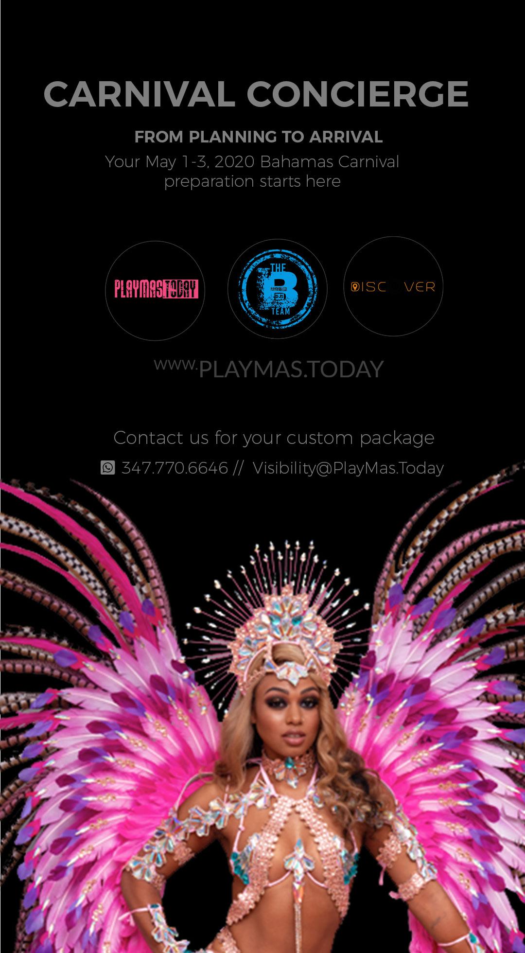 carnival concierge Bahamas Carnival 2020 ay 1-3