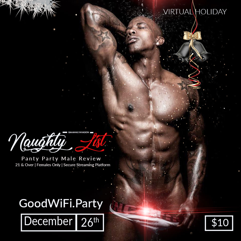Get on the naughty List this Christmas. GoodWifi.Party Pay Per View Tickets available on Cyber Monday