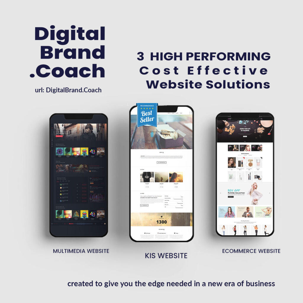 DigitalBrand.Coach Website solutions. Cost effective, high performance and low maintenance