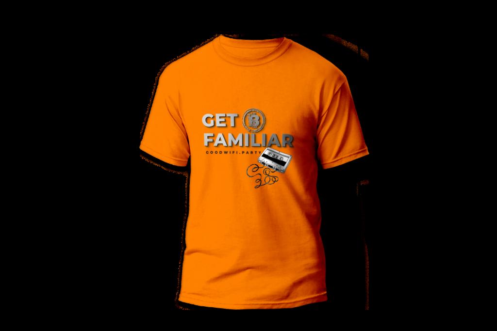 Get Familiar T-Shirt in GoodWiFi orange