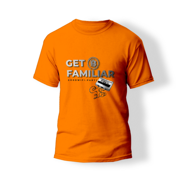 Get Familiar T-Shirt in GoodWiFi orange