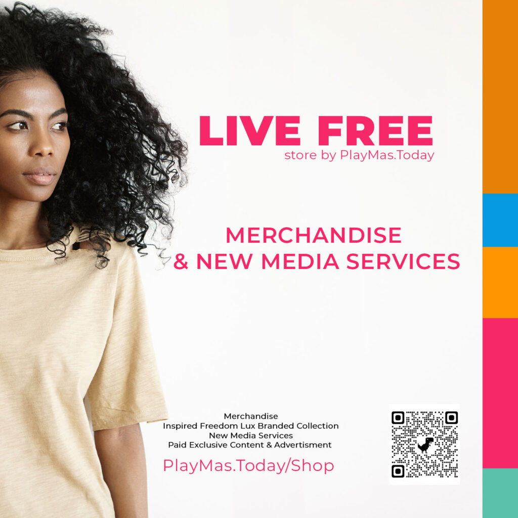 Live Free Shop by PlayMas.Today Merchandise, Lux Merch & New Media Services