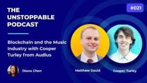 Blockchain and the Music Industry with Cooper Turley from Audius | Ep #21 Cooper talks about how he learned about decentralized technology and gives recommendations for resources and social media channels to follow. We discuss the barriers to the widespread adoption of crypto and use cases for crypto and blockchain in the music industry.